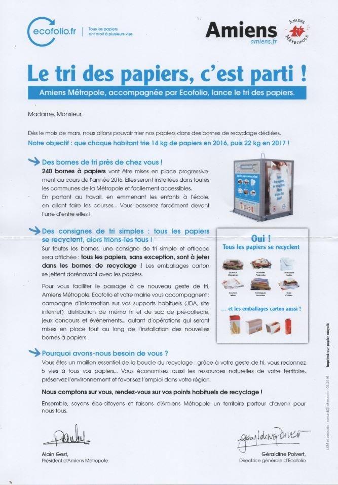 flyer tri papier